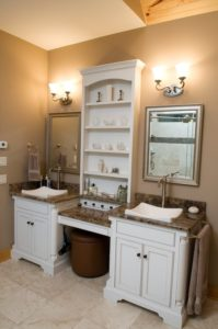 Vanities with Knee Space and His-and-Her Vanities