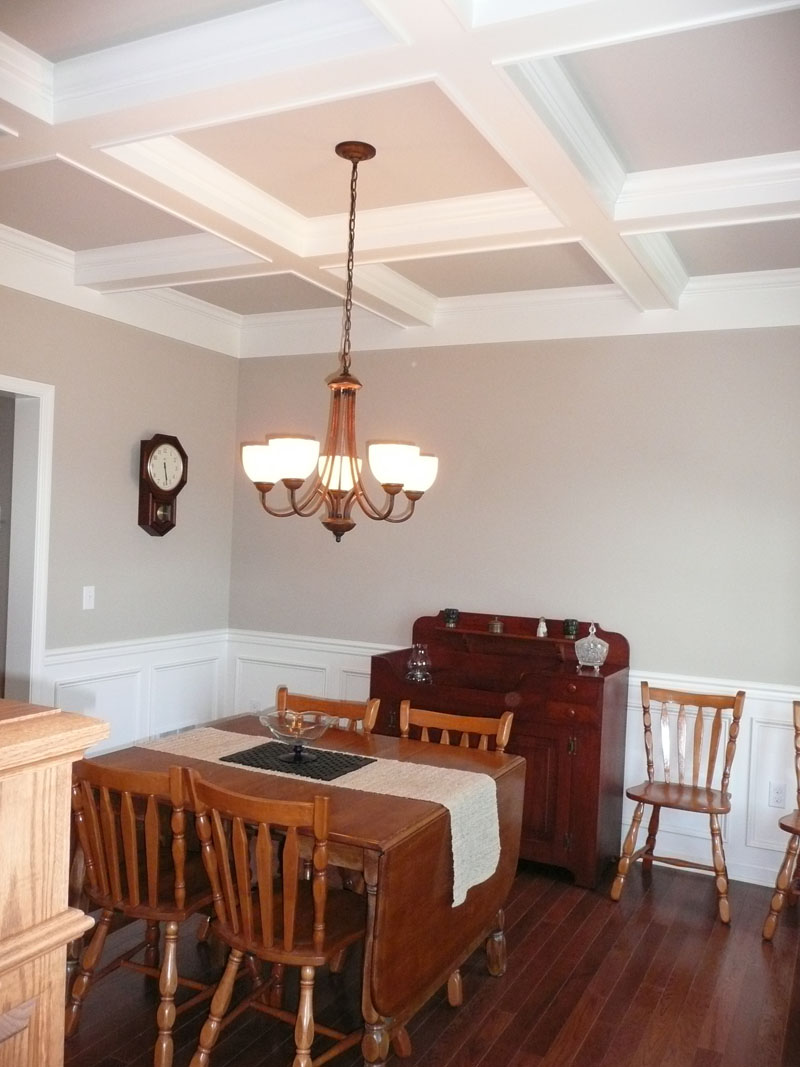 Coffered Ceiling Chair Rail Panel Molding
