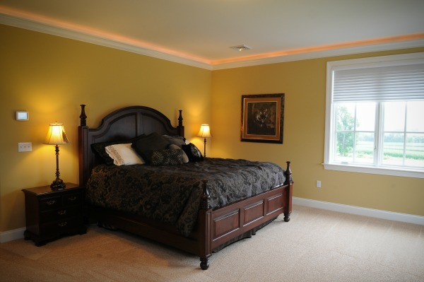 Crown Molding with Lighting Above