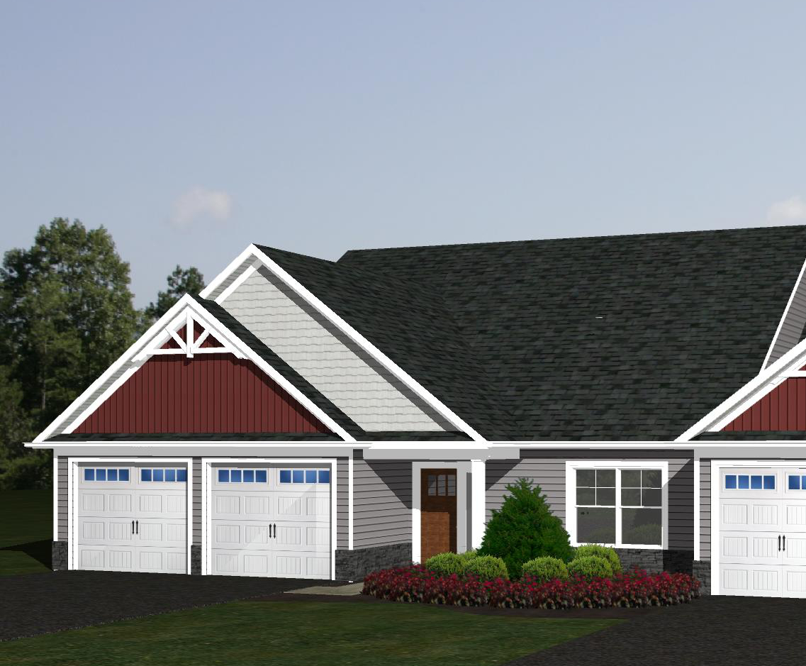 3D rendering of a home exterior at Villas at Featherton