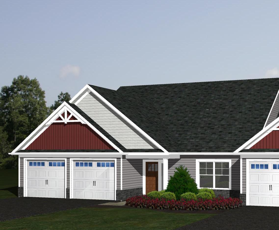 3D rendering of a home exterior at Villas at Featherton