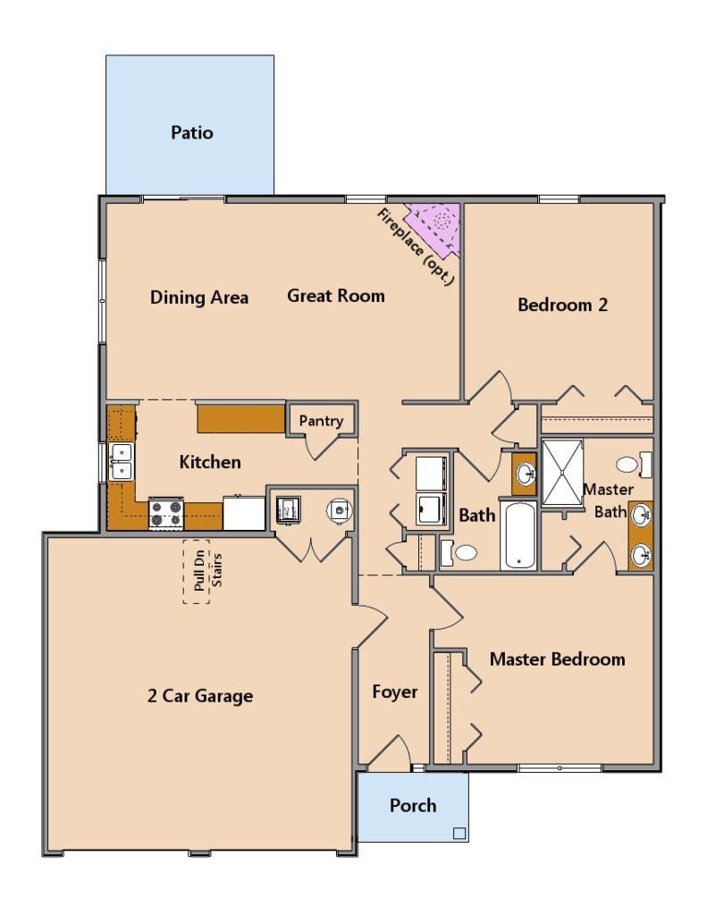 Villas at Featherton model floor plan