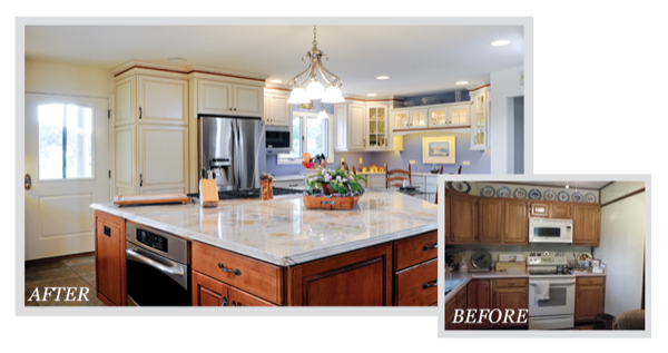 before and after kitchen remodeling photos
