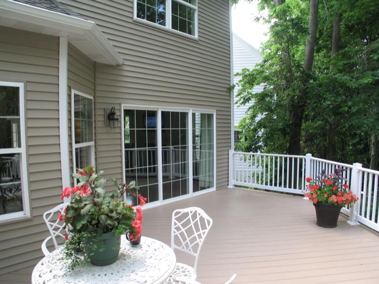 backyard porch area
