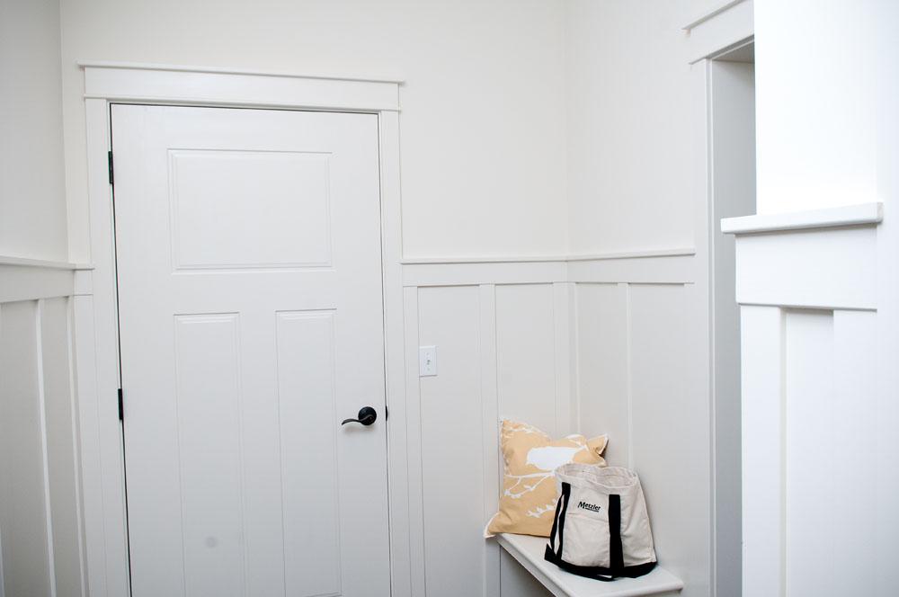 Flat Craftsmen Trim Package Board Batten Wainscoting 3 Panel Craftsmen Door