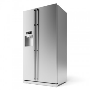 stainless steel fridge