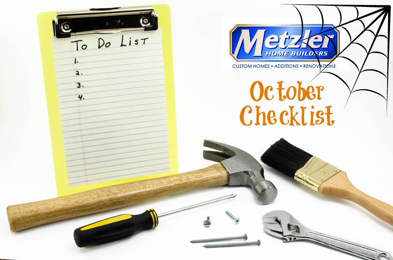 Home Maintenance Checklist – October 2015
