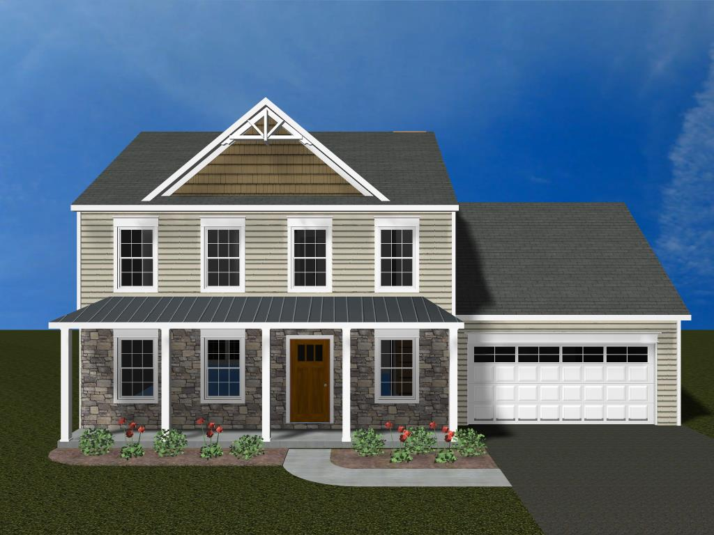 3D rendering of home built at 71 Clay School Road, Ephrata