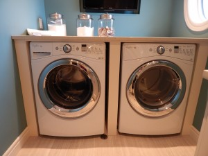 front-load washer & dryer side by side