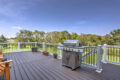 deck with grill and planters