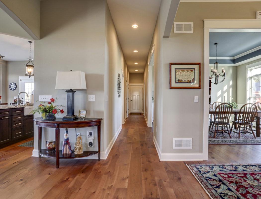 hallway with wood floors
