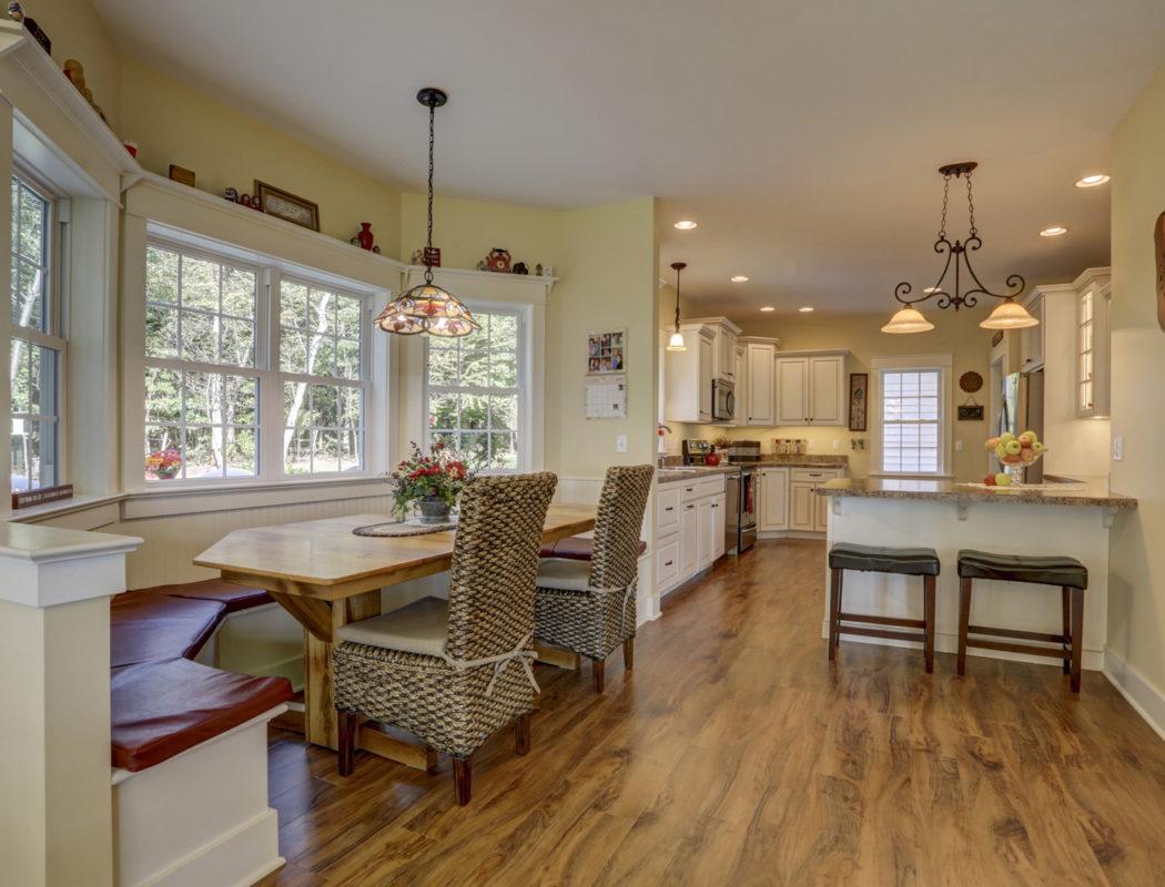 custom kitchen bench seating area