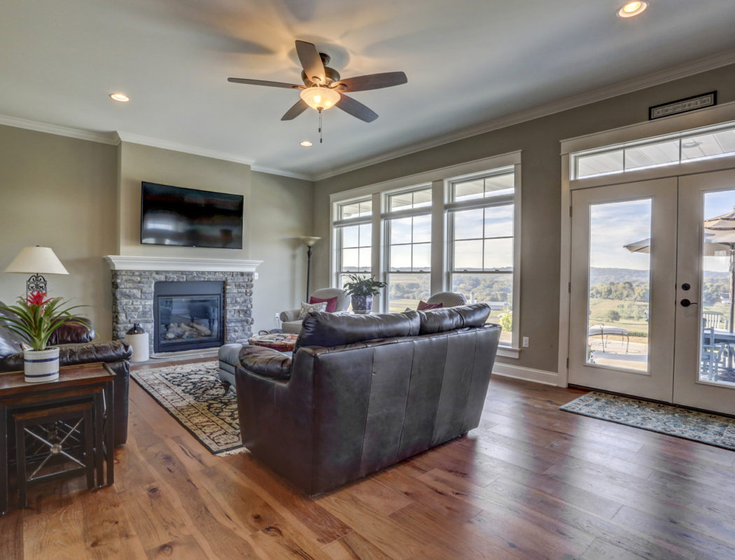 living room seating are with large windows