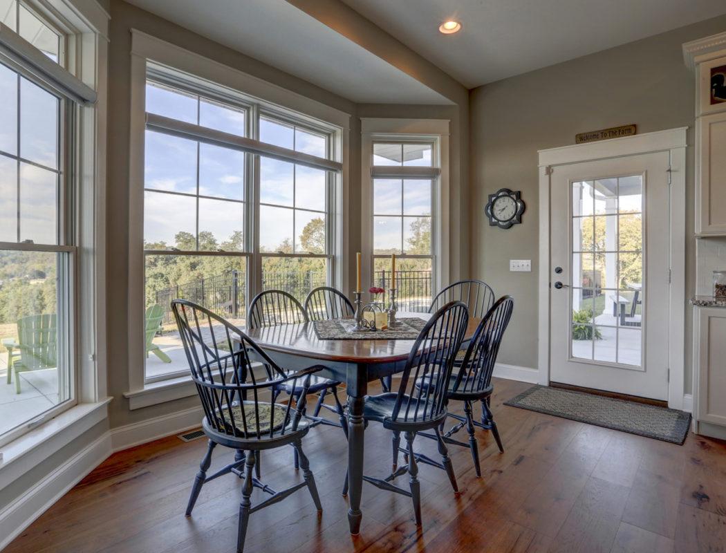 dining area near large custom windows