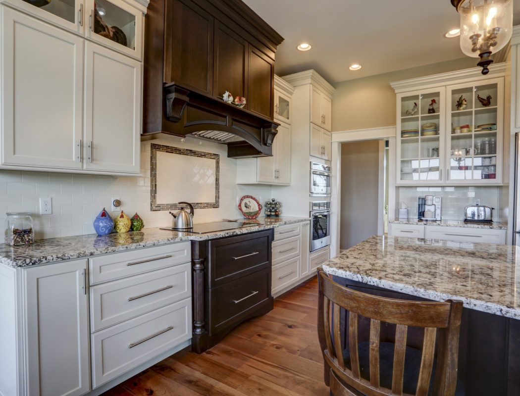 hidden kitchen stove and hood