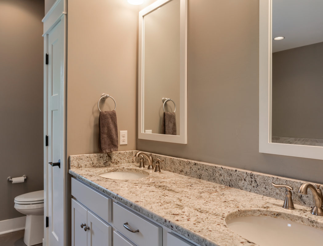 his/her vanity and toilet area