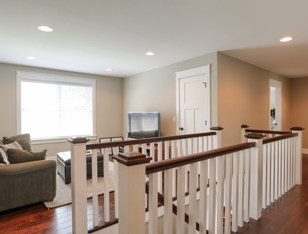 2nd floor landing with seating and TV area
