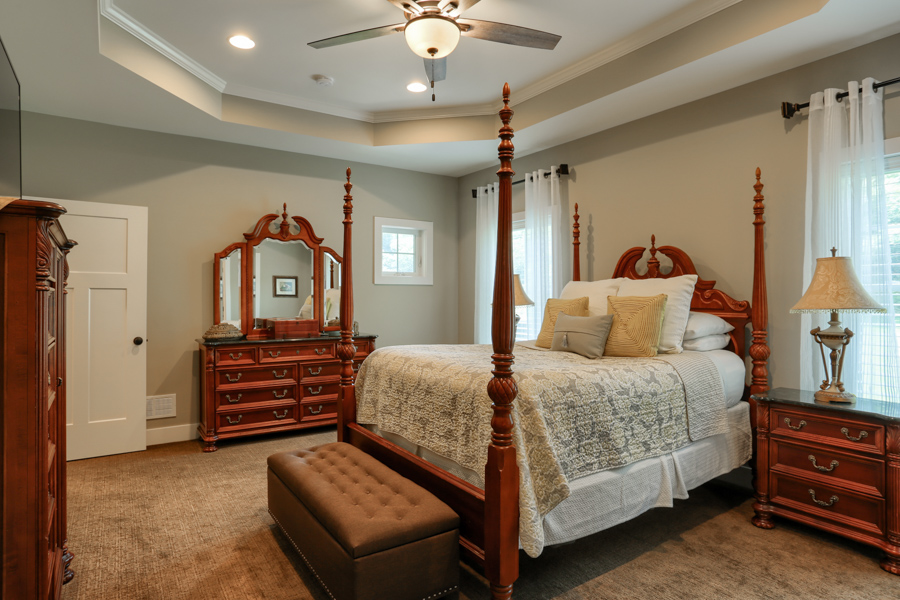 furnished master bedroom suite