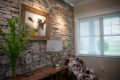 stone wall feature