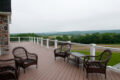 back deck overlooking farmland