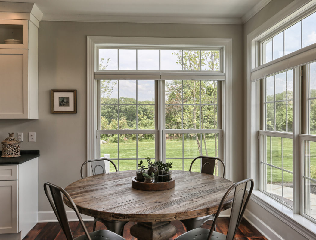 country farmhouse dining area