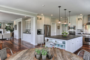 country farmhouse kitchen and dining area
