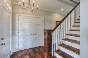country farmhouse staircase and closet