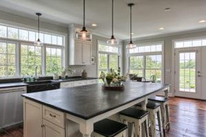country farmhouse kitchen island & bar seating