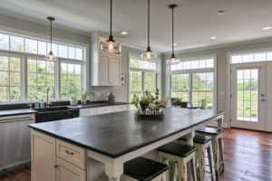 country farmhouse kitchen island & bar seating