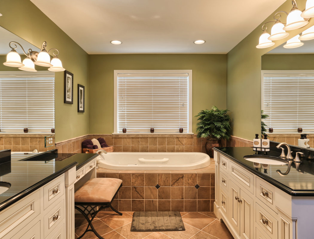 a new metzler bathroom with large tub