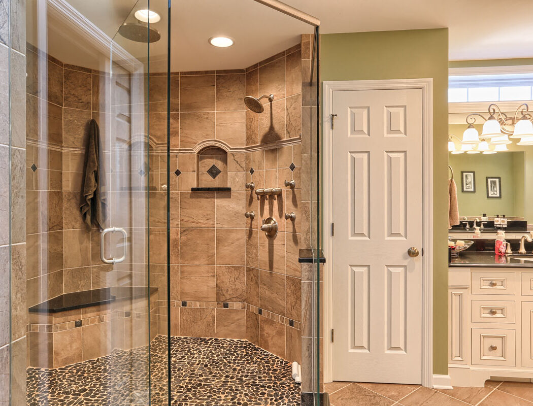 a new metzler bathroom with walkin shower