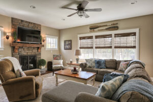 craftsman cottage living room windows