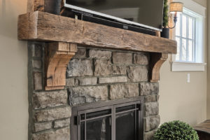 craftsman cottage fireplace