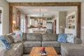 craftsman cottage living room kitchen