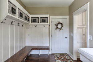 craftsman cottage mud room