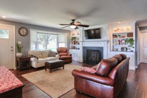 renovated childhood living room