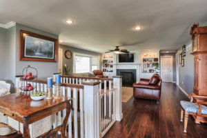 a new living space following a home renovation with Metzler Home Builders