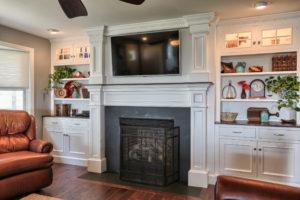 renovated childhood fireplace
