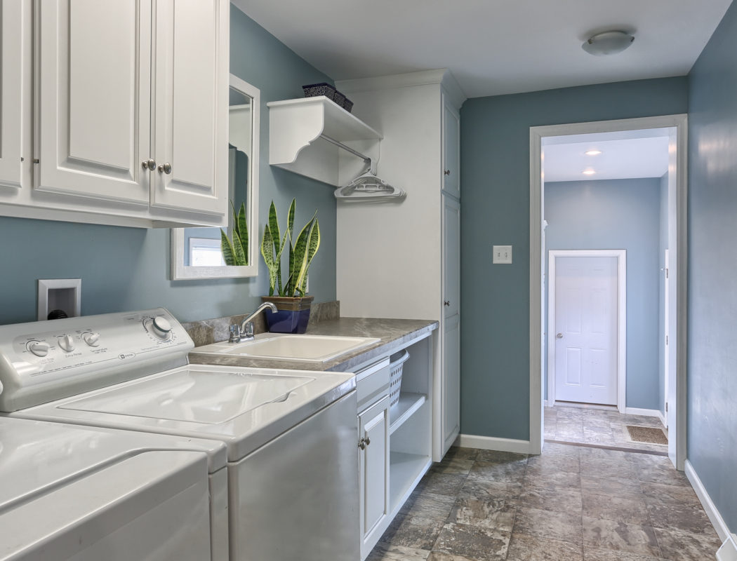 renovated childhood laundry room