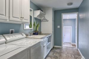 renovated childhood laundry room