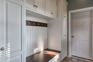 renovated childhood mud room