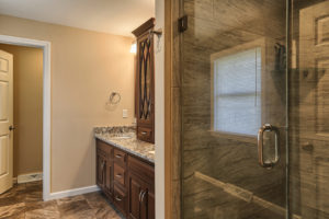 bathroom remodel as part of a whole home renovation