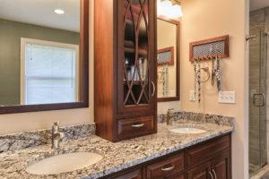 renovated childhood bathroom vanity