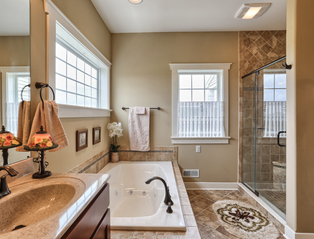 a new metzler bath with large tub and walkin shower