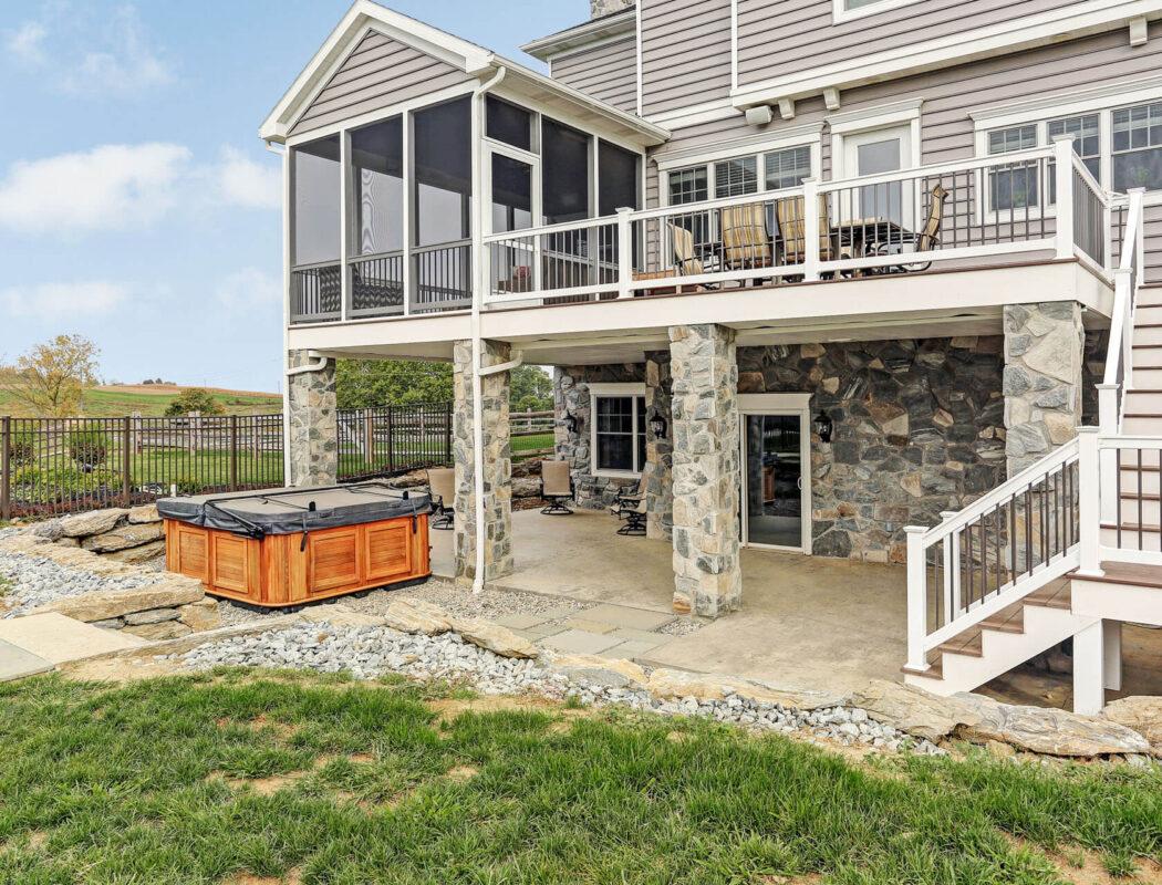 backyard porch and deck