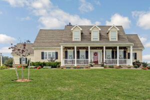 custom designed home exterior