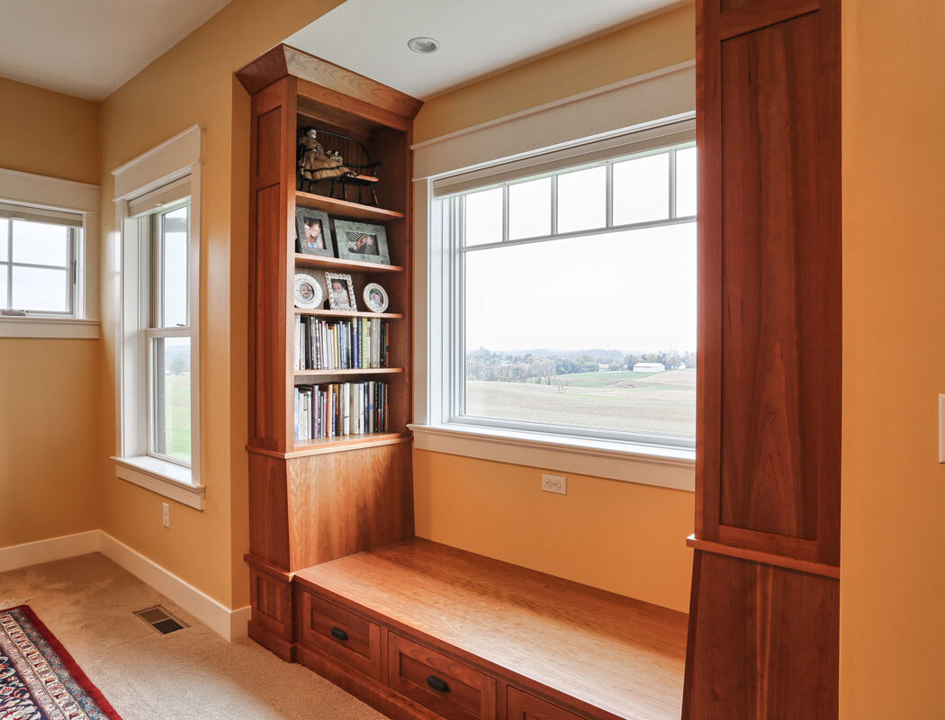 reading nook in the window area