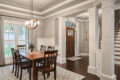 entry way and dining area - Built by Metzler Home Builders
