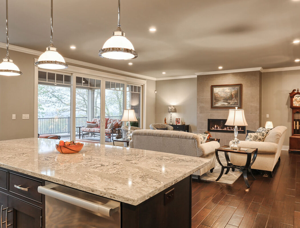 kitchen island living room