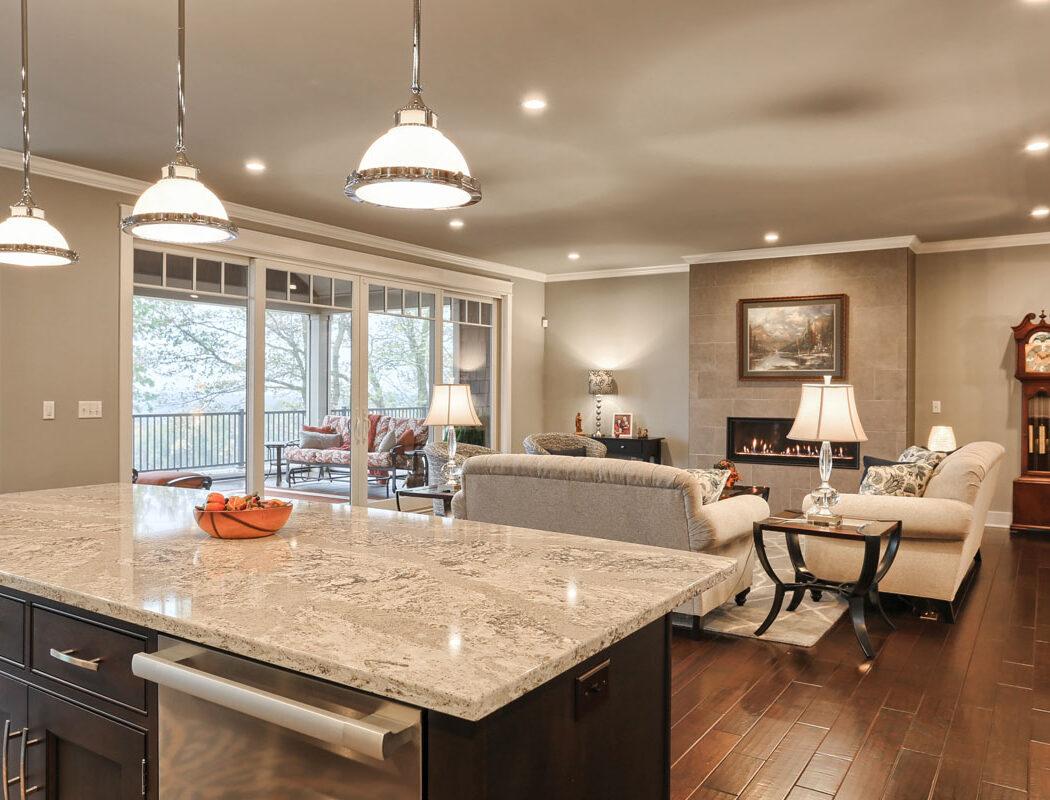 kitchen island living room